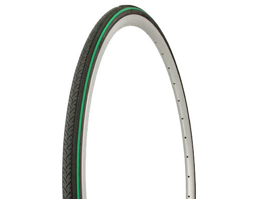 Tire Duro 700 x 25c Black/Green Side Line.
