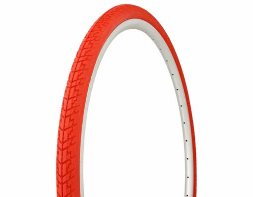 Tire Duro 700 x 35c Red/Red Side Wall.