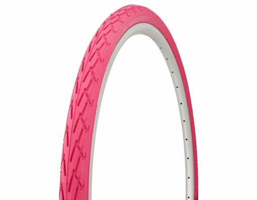 Tire Duro 700 x 38c Pink/Pink Side Wall.