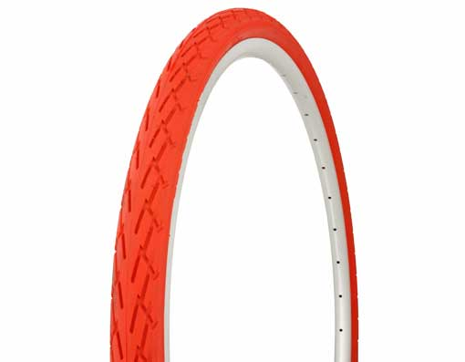 Tire Duro 700 x 40c Red/Red Side Wall.