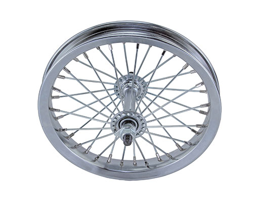 bike 12 Steel Front Wheel 36 Spoke 14gUCP 3/8 Axle Single Wall Chrome
