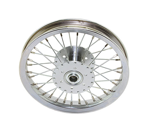bike 12 Hollow-Hub Wheel 36 Spoke 14gUCP Bearing 3/4idx1-3/8od Single Wall Chrome
