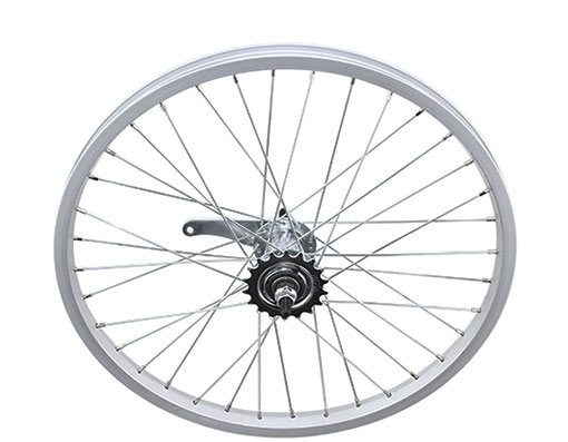 bike 20 x 150 Alloy Coaster Wheel 36 Spoke 14gUCP 3/8 Axle Single Wall Silver