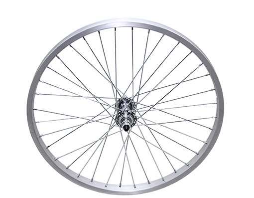 bike 20 36/Spoke Trike Alloy Front Wheel 14gUCP 3/8 Axle Single Wall Silver