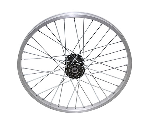 bike 20 36/Spoke Trike Alloy Hollow-Hub F/Left Wheel 12gUCP Bearing 15mm id x 35mm od Single Wall Silver