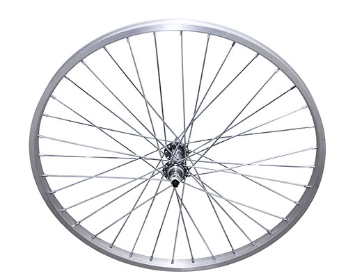 bike 24 36/Spoke Trike Alloy Front Wheel 14gUCP 3/8 Axle Single Wall Silver