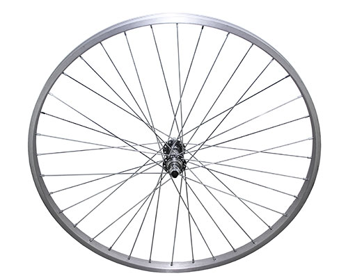 bike 26 36/Spoke Trike Alloy Front Wheel 14gUCP 3/8 Axle Single Wall Silver