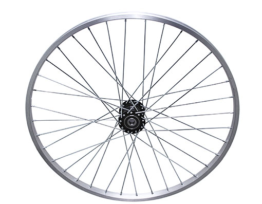 bike 26 36/SpokeTrike Alloy Hollow-Hub F/Left Wheel 12gUCP Bearing 15mm id x 35mm od Single Wall Silver