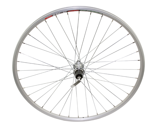 700c Alloy Rear Wheel Cassette 14G W/Q.R Silver.