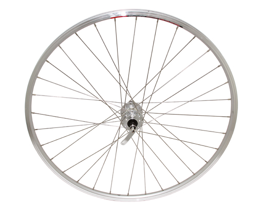 700c Alloy Rear 6/Bolt Disk Wheel 14G W/Q.R Silver.