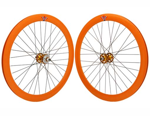 700c V 51mm  Alloy Wheel Set Orange.