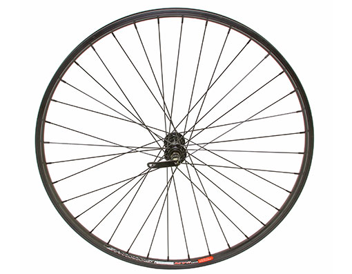 bike 27.5 Alloy Front Wheel 36 Spoke 14gBlack 3/8 QR/Axle Double Wall Black