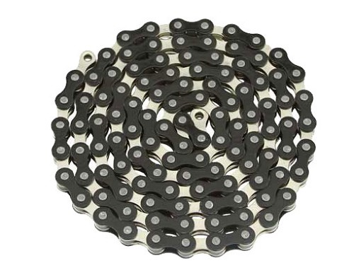 YBN bicycle Chain 1/2x1/8x112 Black/Chrome.