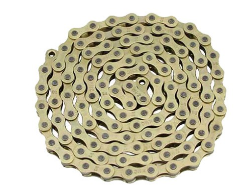 KMC bicycle Chain 1/2x1/8x112 Gold.