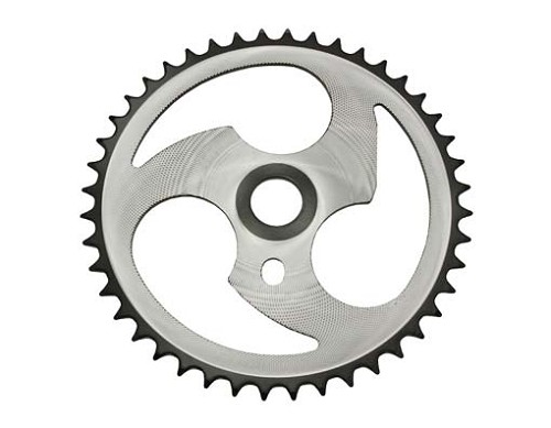 Sprocket Zt7a-d 44t 1/2 X 1/8 Chrome/Black.