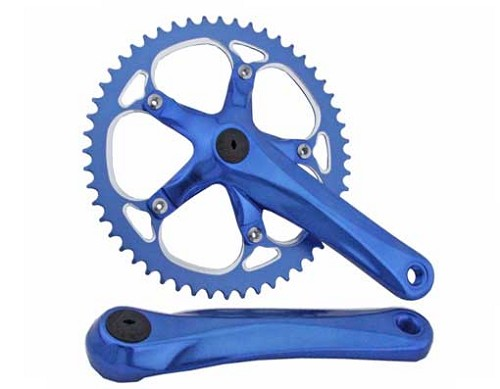 Bicycle Alloy Chainwheel Set 52T x 175mm Blue.