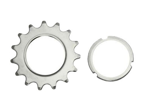 15T Track Fix Cog 1/8 Chrome Bicycle.