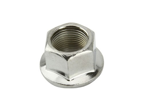 Flange Bicycle Nut 14mm Chrome.
