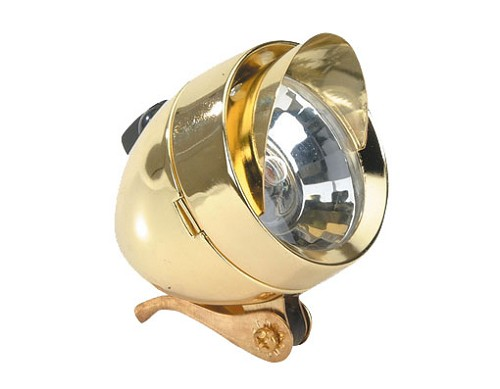 Bullet Bicycle Light W/Visor 777 1/Bulb Gold.