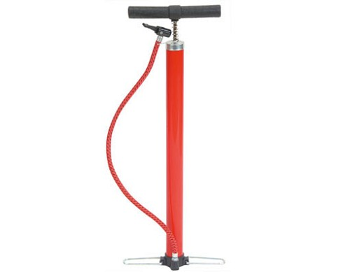 Steel Hand Bicycle Pump Red.