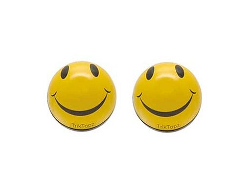 Smiley Face Valve Bicycle Caps.