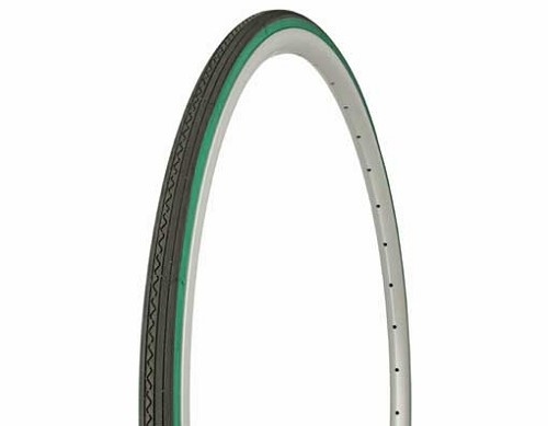 Tire Duro  700 x 23c Black/Green Side Wall