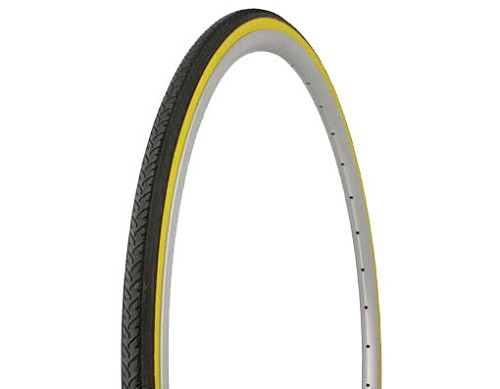 Tire Duro 700 x 25c Black/Yellow Side Wall.